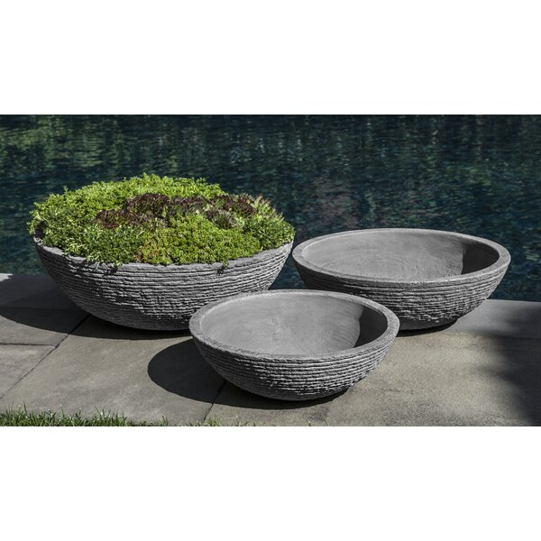 Brough Stone Ledge Zen Bowl (Set of 3) by Bungalow Rose