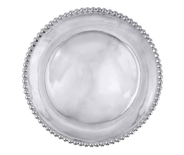 String of Pearls Round Platter by Mariposa