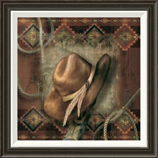 U0027Western Cowboy Hatu0027 By Alma Lee Framed Graphic Art