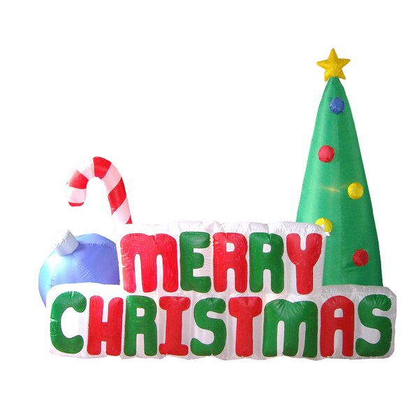 Merry Christmas with Candy Cane Ornaments Tree Inf