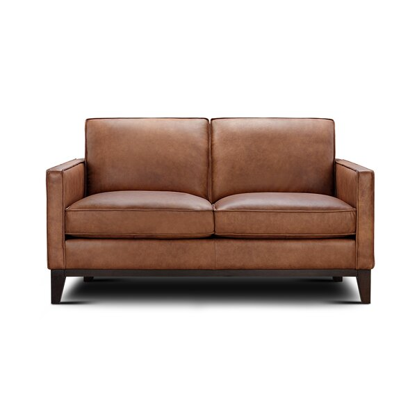Whitson Leather Loveseat by Foundry Select Foundry Select
