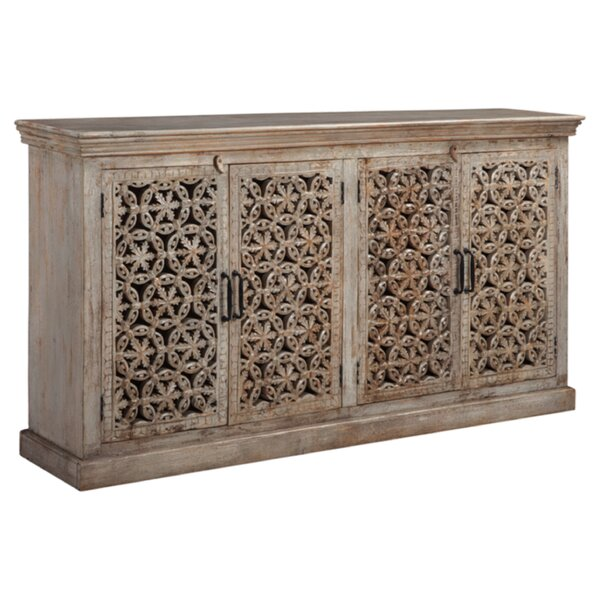 Best Design Appalachia 4 Door Accent Cabinet by Bungalow Rose by Bungalow Rose