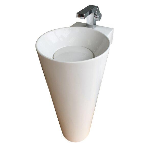 Evianna Oval Pedestal Bathroom Sink by Eviva