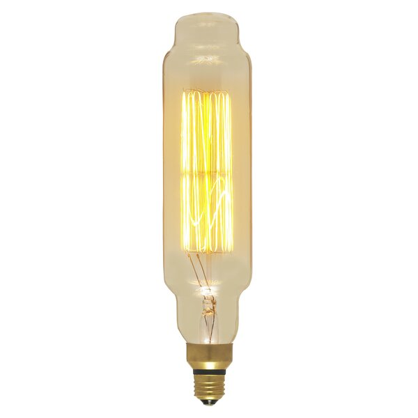 Amber 60W E26/Medium (Standard) Incandescent Vintage Filament Light Bulb by Satco