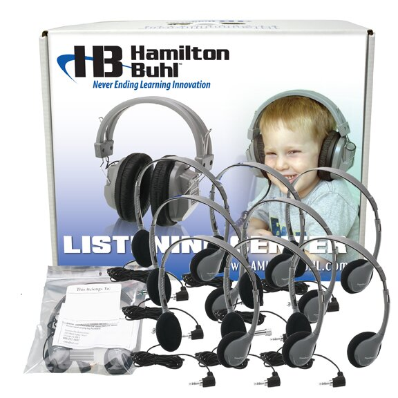 Personal Headset Lab Pack with Carry Box by Hamilton Buhl