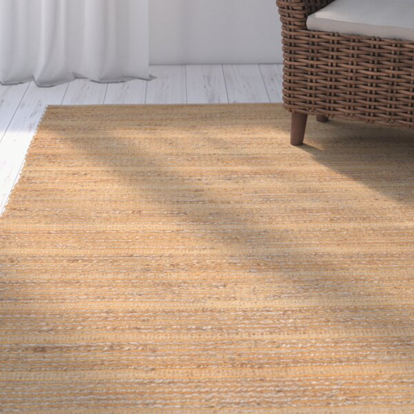 Abia Hand-Woven Orange Area Rug by Highland Dunes