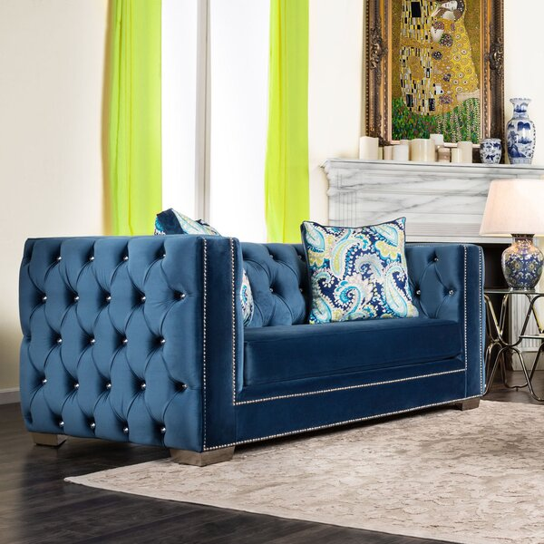Ama Tuxedo Chesterfield Loveseat by Willa Arlo Interiors