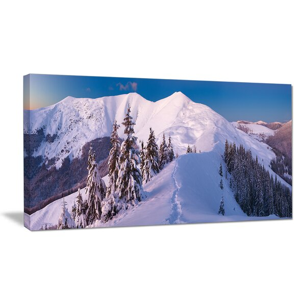 Frosty Winter Carpathians View Photographic Print on Wrapped Canvas by Design Art
