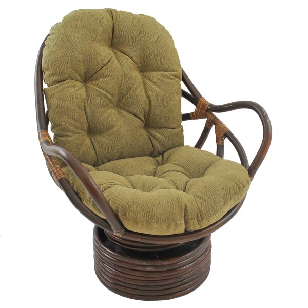 Gilles Swivel Papasan Chair by World Menagerie