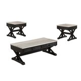 Barys 3 Piece Coffee Table Set by Ebern Designs