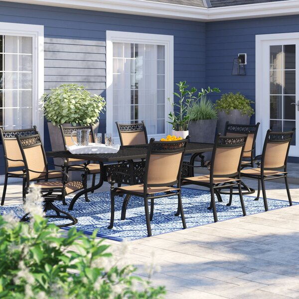 Curacao Traditional 9 Piece Dining Set by Sol 72 Outdoor