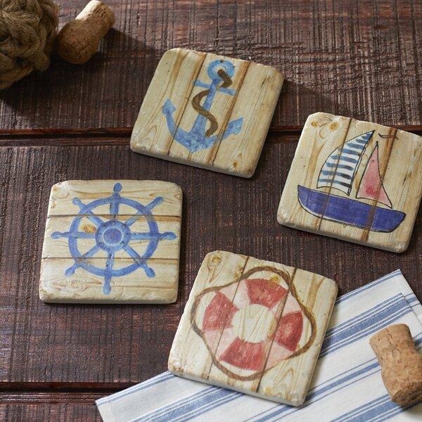 Shipshape Coasters (Set of 4) by Birch Lane™