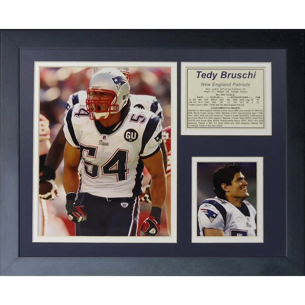Tedy Bruschi Framed Memorabilia by Legends Never Die
