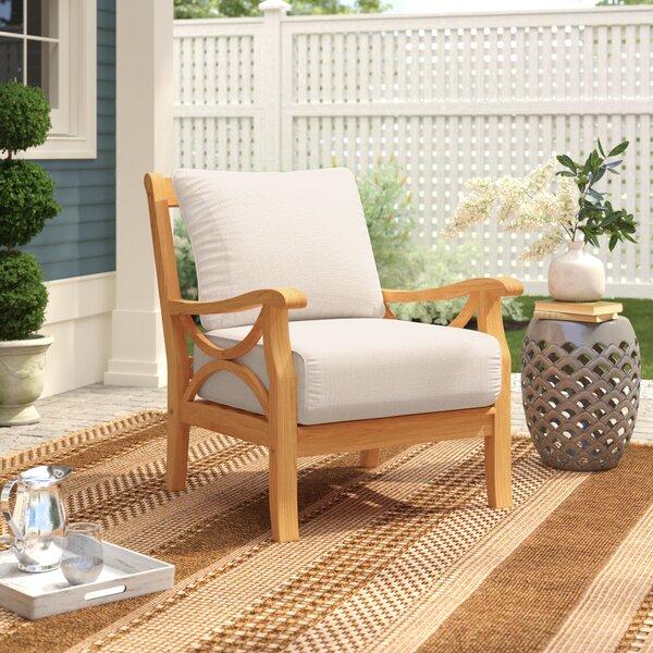 Brunswick Teak Patio Chair with Cushions by Birch Lane Heritage Birch Lane™ Heritage