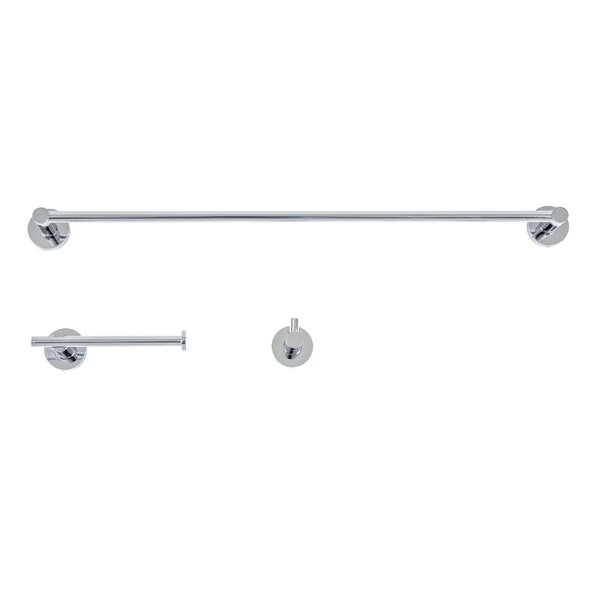 Venezia 3 Piece Bathroom Hardware Set by Italia