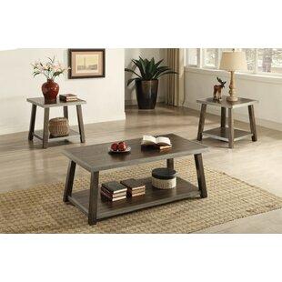 Calanthe Wooden 3 Piece Coffee Table Set ByGracie Oaks
