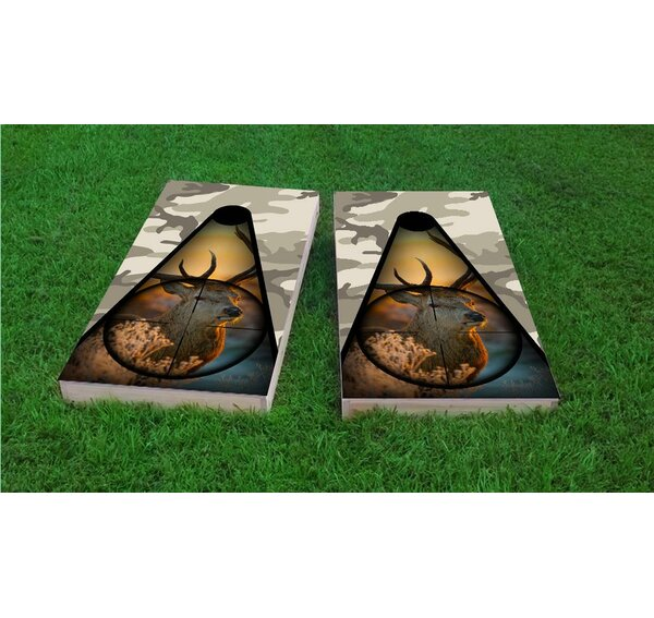 Deer Hunter and Camo Light Weight Cornhole Game Set by Custom Cornhole Boards