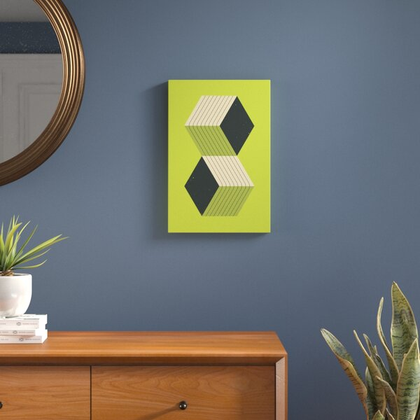 Cubes VIII Graphic Art on Wrapped Canvas by Langley Street