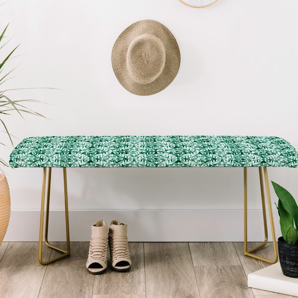 Little Arrow Co Modern Moroccan Emerald Upholstered Bench by East Urban Home