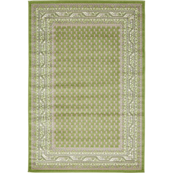 Gillam Geometric Green Area Rug by Three Posts