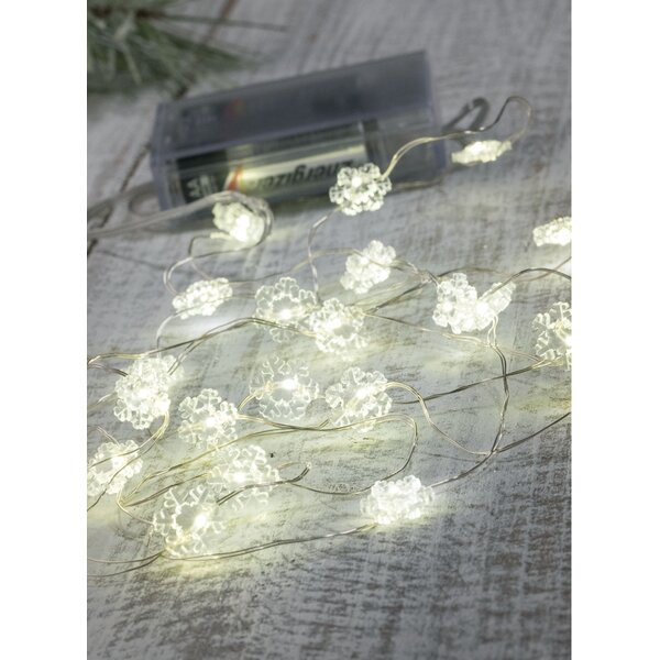 Snowflake 20 Light String Lighting (Set of 4) by The Holiday Aisle