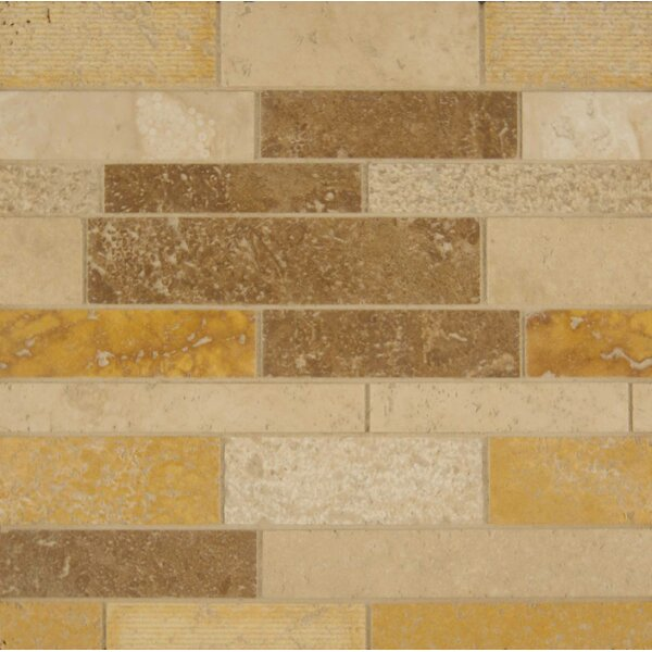 Random Sized Travertine Mosaic Tile in Matte Mosaic Blend by Bedrosians