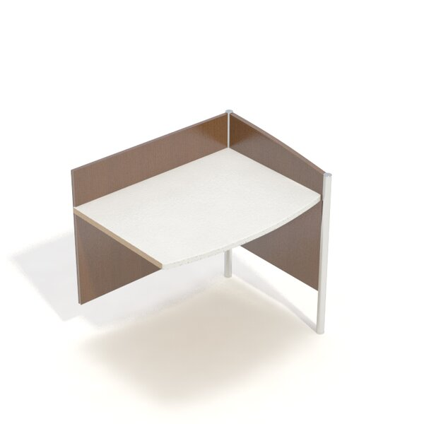 Wave III Single Face Adder Laminate 36 Study Carrel by Palmieri