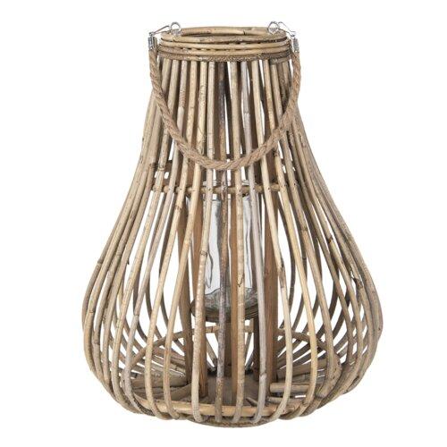 Laterne aus Holz und Glas Sansibar Home   Dekoration > Kerzen und Kerzenständer > Laternen   Sansibar Home