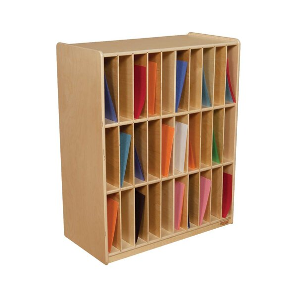 Slot Mail/Portfolio Center 30 Compartment Cubby by Wood Designs