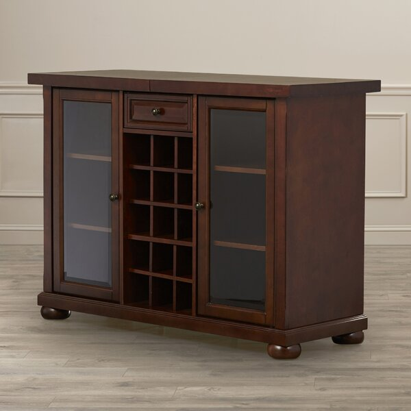 Hedon Bar Cabinet with Wine Storage by Three Posts Three Posts