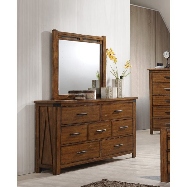 Cergy 7 Drawer Dresser With Mirror by Loon Peak