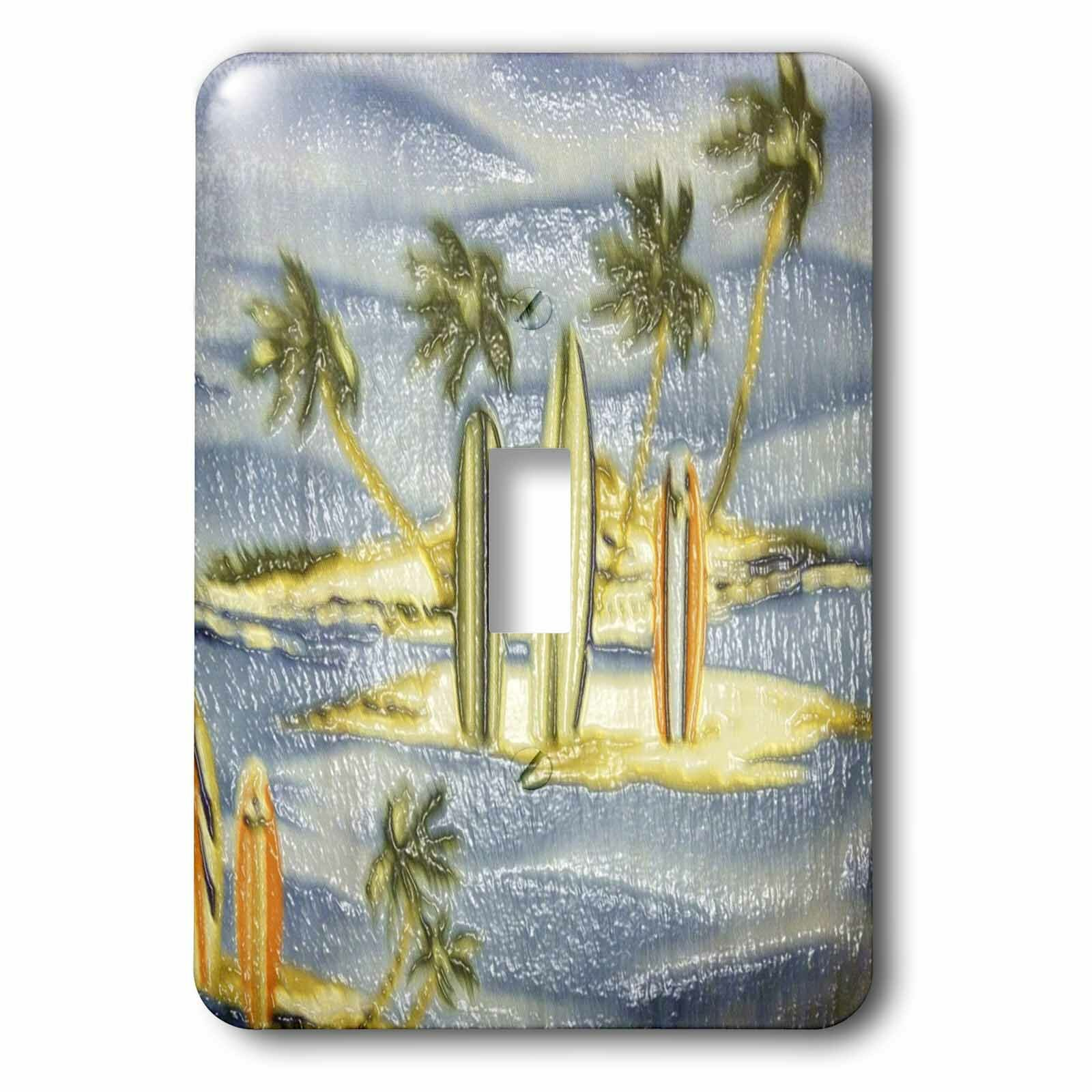 3drose Palms And Surf Boards 1 Gang Toggle Light Switch Wall Plate Wayfair