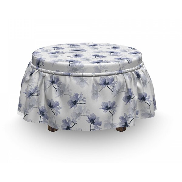 Flower Composition Ottoman Slipcover (Set Of 2) By East Urban Home