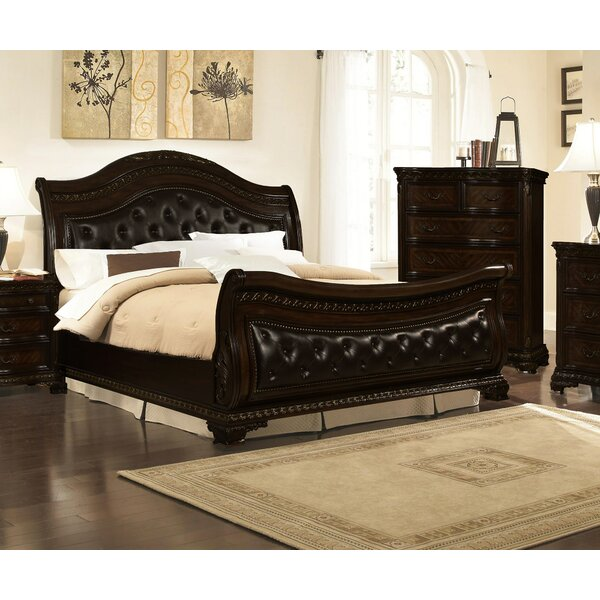 Seng Upholstered Sleigh Bed by Astoria Grand