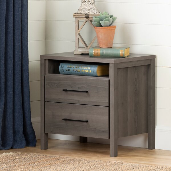 Gravity 2 Drawer Nightstand by South Shore