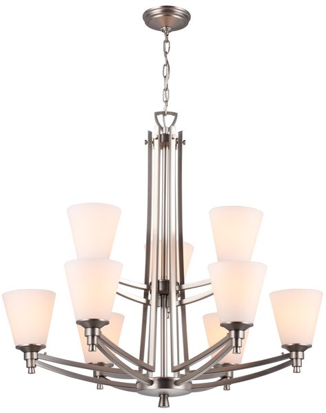 Georgetown 9-Light Shaded Chandelier by DVI