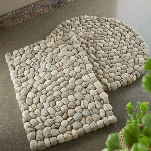 Elmfield Felted Pebble Hand Woven Wool Natural Rectangular Area Rug by Rosecliff Heights