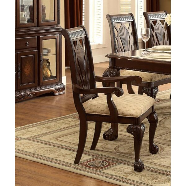 Murchison Carved Details Solid Wood Dining Chair By Astoria Grand
