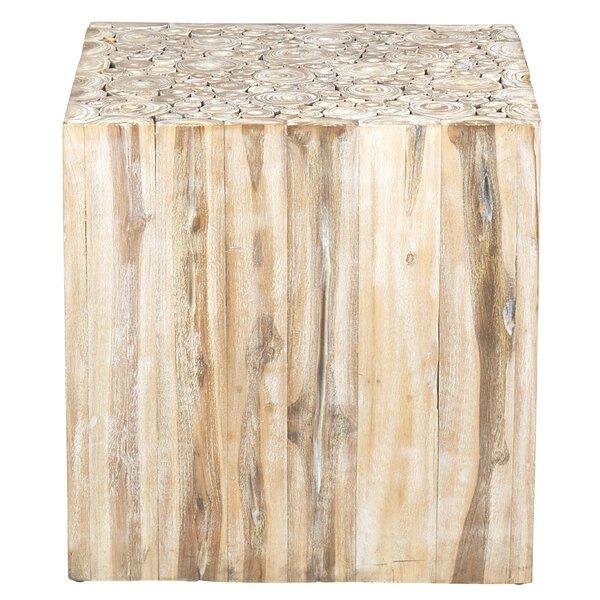 Gregoire Solid Wood Block End Table By Loon Peak