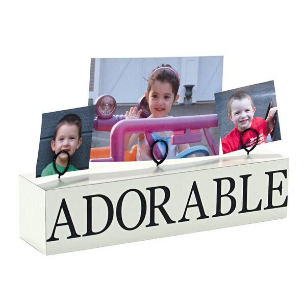 3 Photo Adorable Stand Picture Frame by Malden