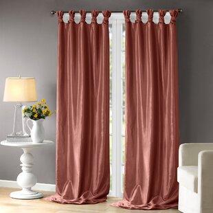 Orange Tab Top Curtains Drapes