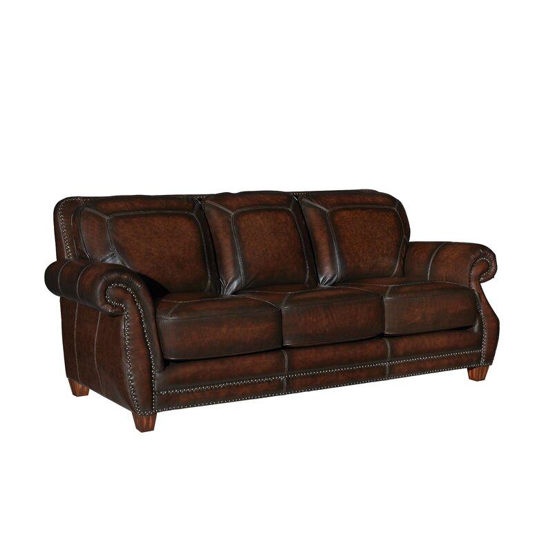 Loon Peak Arredondo Leather Sofa