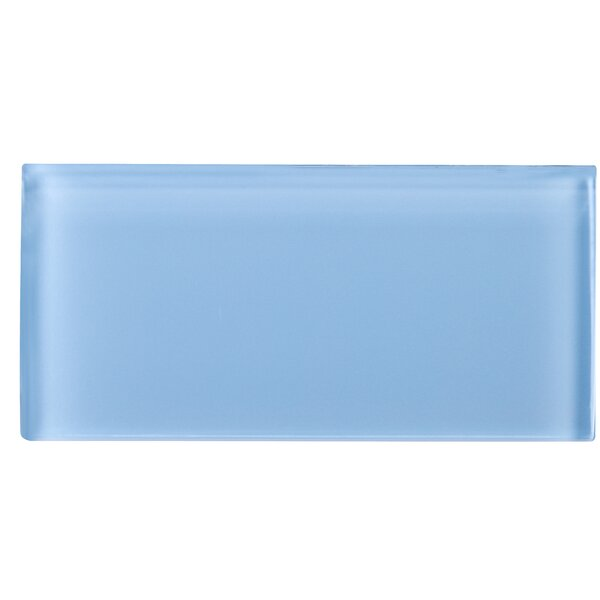 3 x 6 Glass Subway Tile in Blue by Multile