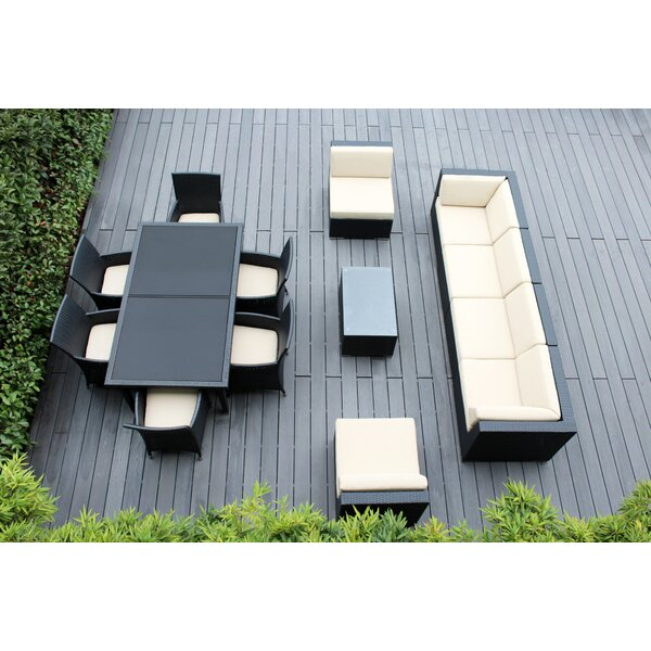 Bannock 14 Piece Rattan Complete Patio Set with Cushions by Orren Ellis