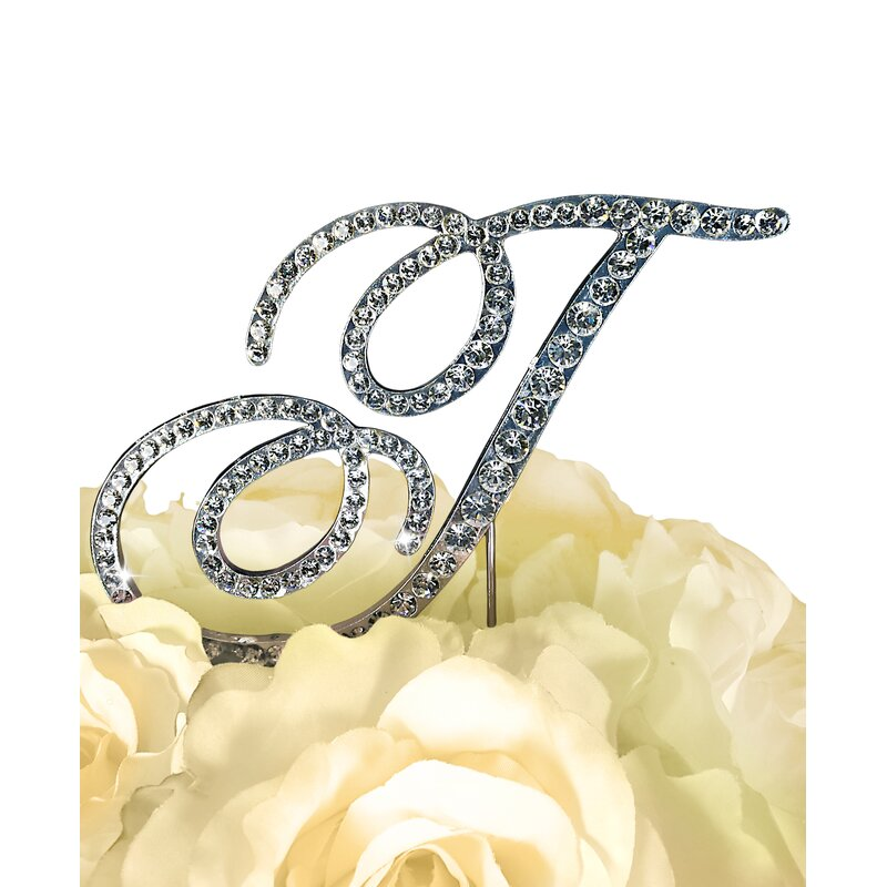 Le Prise Rhinestone Letter Wedding Cake Topper & Reviews | Wayfair