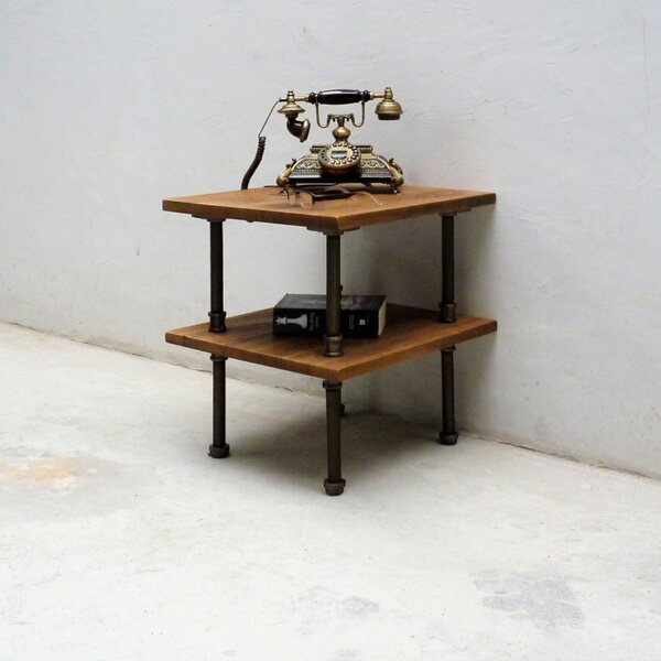 Cissell Industrial Chic End Table By Williston Forge