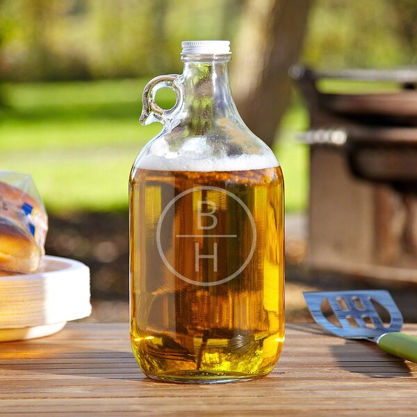 Emerson Clear Glass Personalized 64 oz. Growler by Home Wet Bar