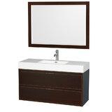 Daniella 47 Single Bathroom Vanity Set with Mirror byWyndham Collection