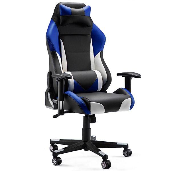 Oslo High-Back Ergonomics Leather Gaming Chair by Latitude Run