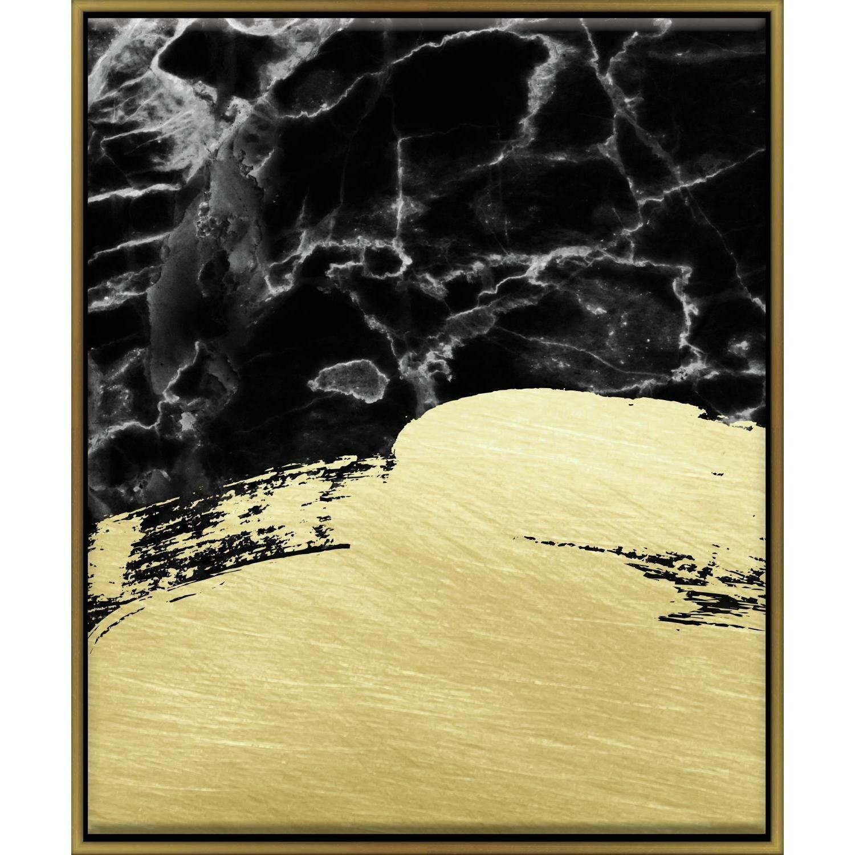 Mercer41 \'Marble Brushstrokes\' Framed Graphic Art Print | Wayfair